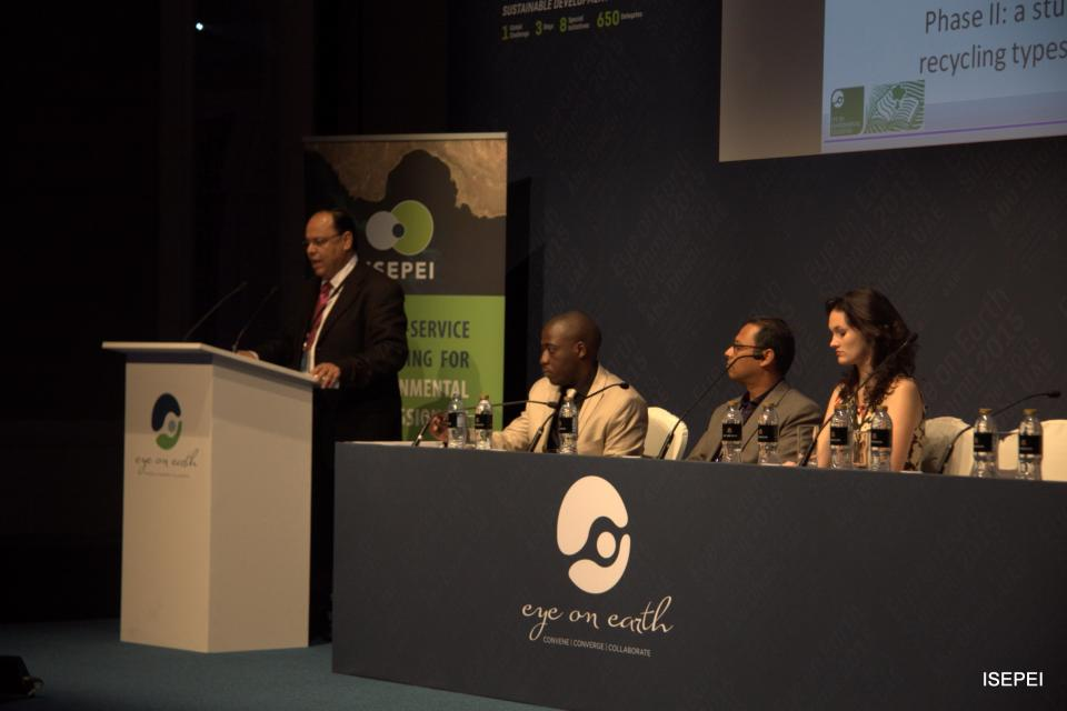 CEU's Emily Nilson at GUPES Side Event, Eye on Earth Summit, representing ISEPEI Project